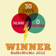 NaNoWriMo Winner's Certificate